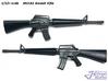 1/12+ M16A1 Assault Rifle 3d printed