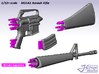1/9 M16A1 Assault Rifle 3d printed