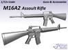 1/9 M16A2 Assault Rifle 3d printed