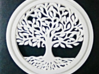 Tree Of Life 3d printed Printed in white PLA.