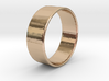 Band Ring  - 14K Rose Gold Plated 3d printed