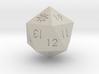 D20 White Mana Symbol (MTG)  3d printed