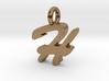 H - Pendant - 2mm thk. 3d printed