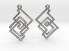 Cobweb Earrings 3d printed