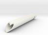 Heart Tube Charm Pendant, Love heart-shaped charm  3d printed