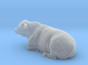 1/64 Lying Horned Hereford Bull Left Turn 3d printed