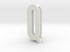 Choker Slide Letters (4cm) - Letter Q 3d printed