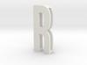 Choker Slide Letters (4cm) - Letter R 3d printed