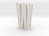 Choker Slide Letters (4cm) - Letter W 3d printed