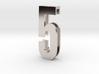 Choker Slide Letters (4cm) - Number 5 3d printed