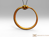 Ouroboros Pendant 6.2cm 3d printed Pendant cord not included