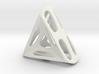 Nest ::: Triangle Pendant ::: v.01 3d printed