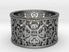 QUADRIFOGLIA 6 Ring Design Ring Size 8.5 3d printed