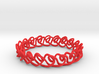 Chain stitch knot bracelet (Square) 3d printed