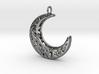 Filigree Crescent Moon 3d printed