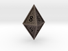 Hedron D8 Closed (Hollow), balanced gaming die 3d printed