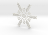 Emma snowflake ornament 3d printed