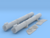 1/27 Torpedo Tubes for PT Boats (aft pair) 3d printed