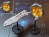 Space portals Full (2-4-6 pcs) - Fleet Commander 3d printed Hand-painted White Strong Flexible