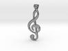 treble clef pendant 3d printed