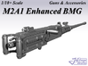 1/18+ M2A1 Enhanced BMG 3d printed
