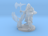 Half Orc Druid Knight with Flying Kitty 3d printed