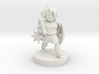 Gnome Female Paladin with Flail 3d printed