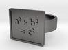 Pythagorean Theorem Ring 3d printed