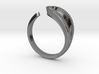 Beaded Loop Ring with Open Shank 3d printed