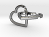 Interlocking Hearts Pendant 3d printed File Rendering
