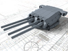 "1/350 Strasbourg 330 mm/50 (13"") Model 1931 Guns 3d printed 3d render showing Turret I detail"