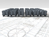 1/350 RN Ready Use Front Opening Lockers x30 3d printed 3d render showing product detail