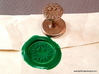 Holly Wreath Wax Seal 3d printed Wax seal and impression.