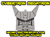 Cybertron Megatron Face & Helmet, Large 3d printed Render of the kit, combined
