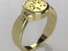Celtic Tree of Life Ring - Size 7-3:4 3d printed Gold