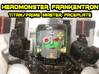 Headmonster Frankentron Face (Titans Return) 3d printed Hand painted hi-def black acrylate