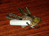 Pint Tag 3d printed Clips onto key ring when not in use.