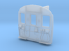 Cab Front Hornby Dublo EMU with warning panel  3d printed