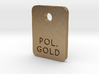 Polished Gold Steel Finish Sample Chip 3d printed