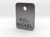 Polished Nickel Steel Finish Sample Chip 3d printed