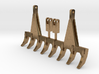 1/50 Scale 9ft pin on style dozer rake.  3d printed