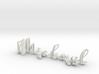 3dWordFlip: Michael/Gabrielle 3d printed