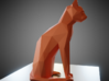 Sitting cat low poly 3d printed