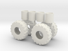 1/50th scale Log Skidder or Construction tires 3d printed