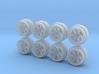 Small Diameter TE37 Hot Wheels Rims 3d printed