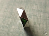 Faceted6 Sided Ring 3d printed