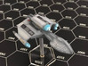 3125 Scale Romulan DemonHawk Dreadnought MGL 3d printed Ship is in Smooth Fine Detail Plastic and painted by a fan. Stand not included.