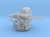 1/72 IJN Type 89 127mm Twin Mount with detachable  3d printed