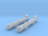 1/285 Scale WW2 Single Torpedo Tubes (2) 3d printed