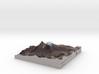 "Mount Damavand (دماوند) Map: 6""x6"" 3d printed"